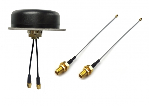 COMBINED ANTENNA FOR GNSS & LTE, MINI COAXIAL CABLE WITH SMA F(BH))