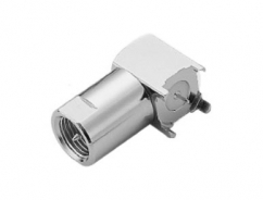 RF Connector, FME R/A P.C.B. Mount Plug