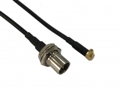 RF Cable Assembly, RA MMCX M RG174 150mm FME M(BH)