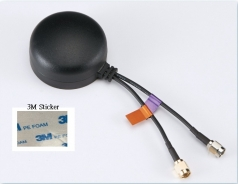 Combination Antenna, GPS/GLONASS/LTE, 30dBi, SMA M,3M Sticker