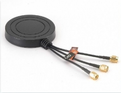 Combination Antenna, GSM/UMTS/GNSS/LTE, 0-30dBi, SMA M, 3-in-1